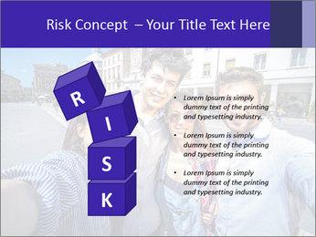 Friends Take Selfie Photo PowerPoint Template - Slide 81