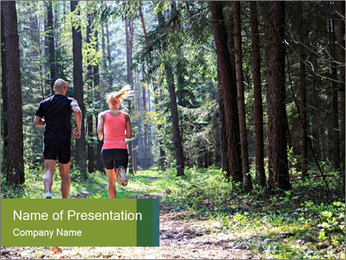 A couple jogging PowerPoint Template