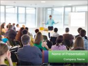Speaker at Business convention PowerPoint Templates