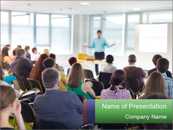 Speaker at Business convention PowerPoint Template - Slide 1