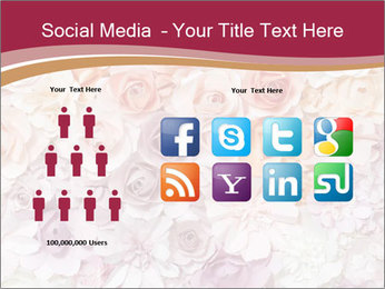Colorful flowers paper PowerPoint Template - Slide 5