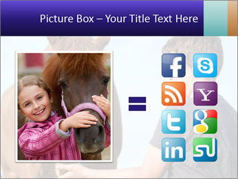 A happy child feeding PowerPoint Template - Slide 21
