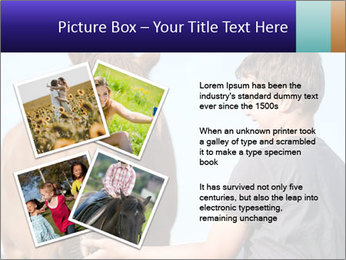 A happy child feeding PowerPoint Template - Slide 23