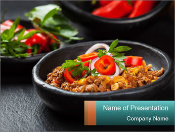 Traditional cilli con carne PowerPoint Template - Slide 1