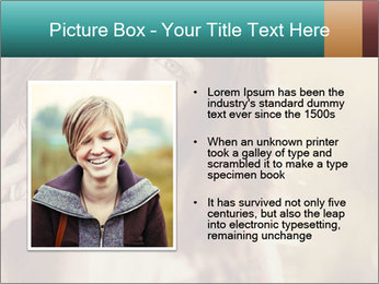 Beautiful girl smiling PowerPoint Template - Slide 13