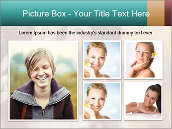 Beautiful girl smiling PowerPoint Template - Slide 19