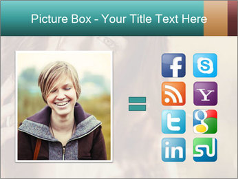 Beautiful girl smiling PowerPoint Template - Slide 21