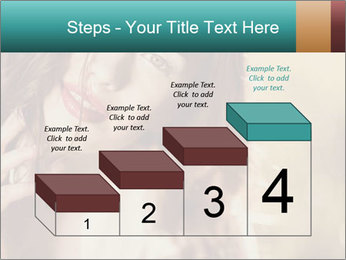 Beautiful girl smiling PowerPoint Template - Slide 64
