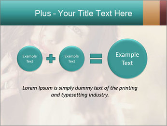 Beautiful girl smiling PowerPoint Template - Slide 75