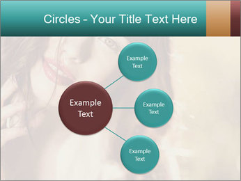 Beautiful girl smiling PowerPoint Template - Slide 79