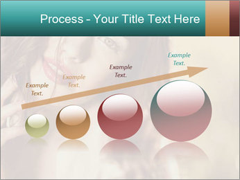 Beautiful girl smiling PowerPoint Template - Slide 87