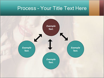 Beautiful girl smiling PowerPoint Template - Slide 91