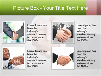 Two Businessman shake their hands PowerPoint Templates - Slide 14