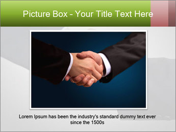 Two Businessman shake their hands PowerPoint Template - Slide 15