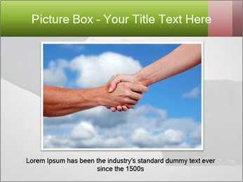 Two Businessman shake their hands PowerPoint Template - Slide 16