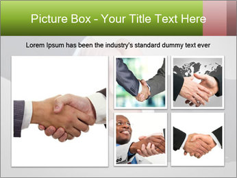 Two Businessman shake their hands PowerPoint Template - Slide 19