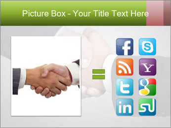 Two Businessman shake their hands PowerPoint Templates - Slide 21