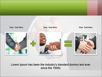 Two Businessman shake their hands PowerPoint Template - Slide 22