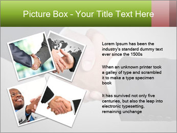 Two Businessman shake their hands PowerPoint Template - Slide 23