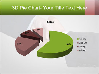 Two Businessman shake their hands PowerPoint Template - Slide 35