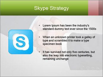 Two Businessman shake their hands PowerPoint Template - Slide 8