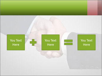 Two Businessman shake their hands PowerPoint Templates - Slide 95