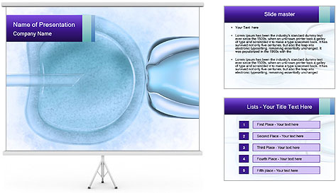 Vitro fertilization PowerPoint Template