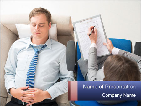 Young businessman having consultation PowerPoint Template