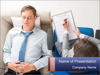 Young businessman having consultation PowerPoint Template - Slide 1