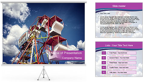 Old ferris wheel PowerPoint Template