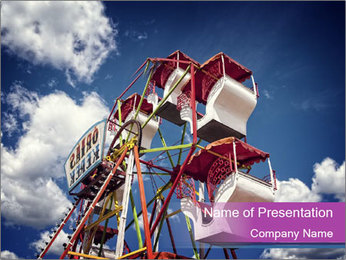 Old ferris wheel PowerPoint Template - Slide 1