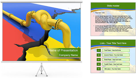 Gas pipe tied in a knot PowerPoint Template