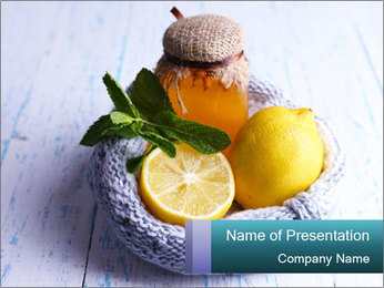 Folk remedies for colds PowerPoint Template - Slide 1