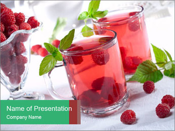 Summer raspberry cold drink PowerPoint Template