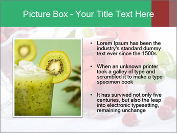 Summer raspberry cold drink PowerPoint Template - Slide 13