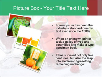 Summer raspberry cold drink PowerPoint Template - Slide 17