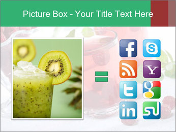 Summer raspberry cold drink PowerPoint Template - Slide 21
