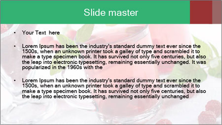 Summer raspberry cold drink PowerPoint Template - Slide 2