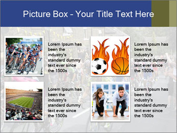 The peloton riding up PowerPoint Template - Slide 14