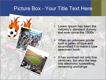 The peloton riding up PowerPoint Template - Slide 17