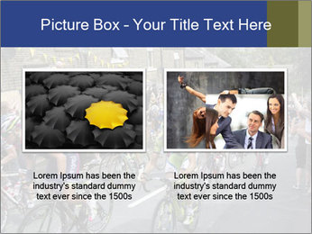 The peloton riding up PowerPoint Template - Slide 18