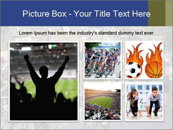 The peloton riding up PowerPoint Template - Slide 19