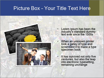 The peloton riding up PowerPoint Template - Slide 20