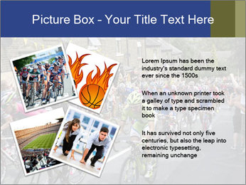 The peloton riding up PowerPoint Template - Slide 23