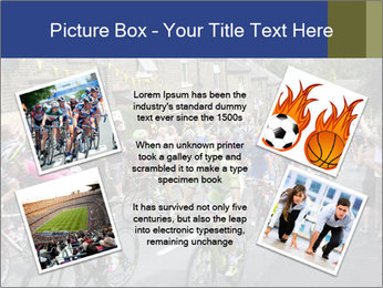 The peloton riding up PowerPoint Template - Slide 24