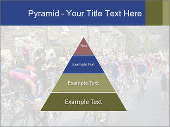 The peloton riding up PowerPoint Template - Slide 30