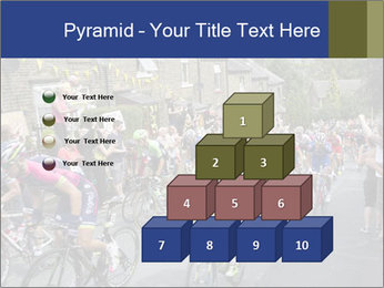 The peloton riding up PowerPoint Template - Slide 31