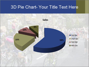 The peloton riding up PowerPoint Template - Slide 35
