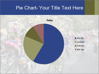 The peloton riding up PowerPoint Template - Slide 36