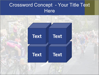 The peloton riding up PowerPoint Template - Slide 39